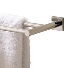 "Valsan Braga Square Base 24"" Double Towel Bar  - Polished Nickel"
