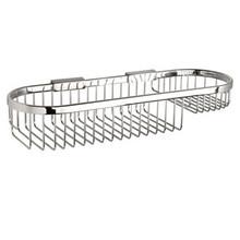 "Valsan Classic Detachable Oval Soap Basket Large 4 1/2"" X 15 3/4"" - Chrome"