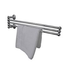 "Valsan Kingston Adjustable 3 Tier 18"" Swivel Arm Towel Rail / Bar - Polished Brass"