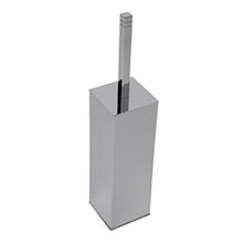 Valsan Cubis-Plus Freestanding Toilet Brush Holder - Satin Nickel