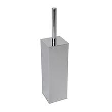 Valsan Braga Square Base Freestanding Toilet Brush Holder - Satin Nickel