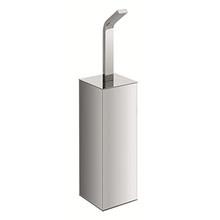 Valsan Sensis Freestanding Square Toilet Brush & Holder - Polished Nickel