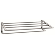 "Valsan Sensis Towel Shelf & Rack / Bar 20 1/2"" - Satin Nickel"
