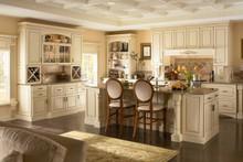 Kraftmaid Kitchen Cabinets - Square Raised Panel - Solid (MTM) Maple in Biscotti w/Cocoa Glaze