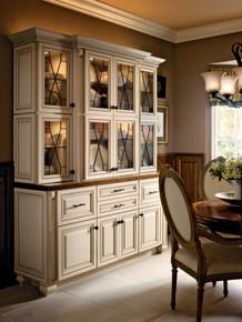 Kraftmaid Kitchen Cabinets - Square Raised Panel - Solid (ALM) Maple in Canvas w/Cocoa Glaze