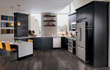 Kraftmaid Kitchen Cabinets -  Slab - Veneer (AB4O) Quartersawn Oak in Onyx