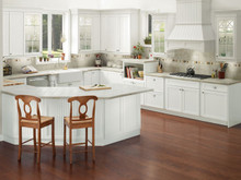 Kraftmaid Kitchen Cabinets -  Square Beaded - Solid (BWM) Maple in Dove White