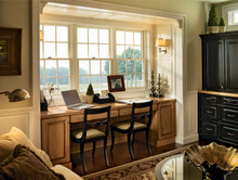 Kraftmaid Kitchen Cabinets -  Square Recessed Panel - Veneer (NBC) Cherry in Autumn Blush w/Onyx Glaze
