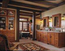 "Kraftmaid Kitchen Cabinets -  Tide Bar Pull - Brushed Bronze - 8"" Center"