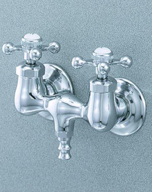Cheviot  3100-CH Two Handle Wall Mount Tub Filler Faucet with Cross Handles  - Chrome