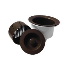 "Opella 90077 Deep 3 1/2"" Basket Strainer with Water Tight Lid - Espresso / Brown"