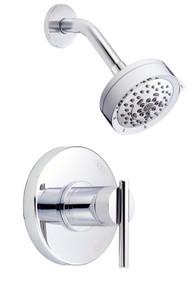 Danze D512558T Parma Single Lever Handle Shower Faucet Trim 2.0 Gpm Showerhead - Chrome