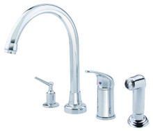 Danze D409112 Melrose Single Handle High Rise Kitchen Faucet with Spray - Chrome
