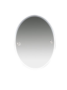 "Valsan  M8000NI Oslo Polished Nickel Bevelled Wall Mirror, 15 3/4"" W x 19 7/8"" H"