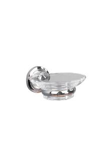 Valsan  M8004NI Oslo Polished Nickel Glass Soap Dish Holder