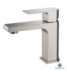 Fresca Allaro Single Hole Bathroom Vanity Faucet - Brushed Nickel
