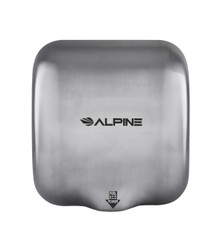 Alpine  Hemlock Stainless Steel Brushed Automatic High Speed Commercial Hand Dryer  220/240V