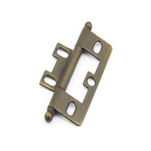 Schaub 1100B-ALB Ball Tip Non-Mortise Hinge - Antique Light Brass