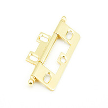 Schaub 1100B-03 Ball Tip Non-Mortise Hinge - Polished Brass