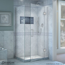 DreamLine  E12834-01 Unidoor-X 34-3/8 W x 34 in. D x 72 in. H Hinged Shower Enclosure in Chrome Finish