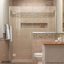 DreamLine  D1243636-01 Unidoor-X 66 - 66 1/2 in. W x 72 in. H Hinged Shower Door in Chrome Finish