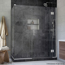 DreamLine  E1281434-01 Unidoor-X 48 in. W x 34.375 in. D x 72 in. H Hinged Shower Enclosure in Chrome Finish