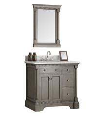 "Fresca  FVN2236SA Kingston 36"" Antique Silver Traditional Bathroom Vanity w/ Mirror"