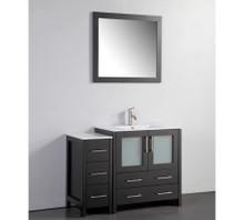 Vanity Art VA3030-42E 42 Inch Vanity Cabinet with Ceramic Sink & Mirror - Espresso