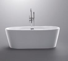 "Vanity Art VA6804 67"" Bathroom Freestanding Acrylic Soaking Bathtub - White"