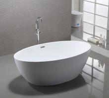 "Vanity Art VA6834 69"" Bathroom Freestanding Acrylic Soaking Bathtub - White"
