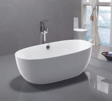 "Vanity Art VA6833 67"" Bathroom Freestanding Acrylic Soaking Bathtub - White"