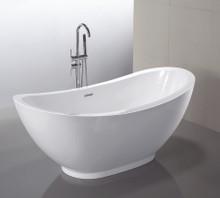"Vanity Art VA6516 69"" Bathroom Freestanding Acrylic Soaking Bathtub - White"