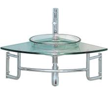 "Fresca  FVN1040 Fresca Ordinato 24"" Corner Mount Modern Glass Bathroom Vanity"