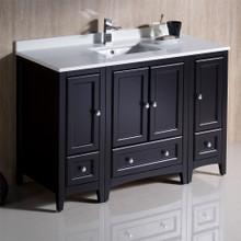 """Fresca  FCB20-122412ES-CWH-U Fresca Oxford 48"""" Espresso Traditional Bathroom Cabinets w/ Top & Sink"""