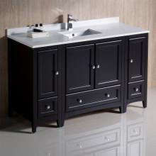 """Fresca  FCB20-123012ES-CWH-U Fresca Oxford 54"""" Espresso Traditional Bathroom Cabinets w/ Top & Sink"""