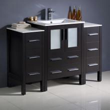 """Fresca  FCB62-122412ES-I Fresca Torino 48"""" Espresso Modern Bathroom Cabinets w/ Integrated Sink"""