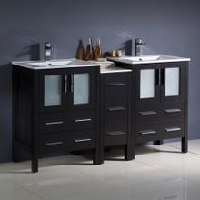"""Fresca  FCB62-241224ES-I Fresca Torino 60"""" Espresso Modern Double Sink Bathroom Cabinets w/ Integrated Sinks"""