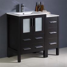 """Fresca  FCB62-2412ES-I Fresca Torino 36"""" Espresso Modern Bathroom Cabinets w/ Integrated Sink"""
