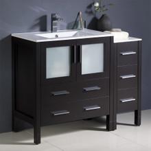 """Fresca  FCB62-3012ES-I Fresca Torino 42"""" Espresso Modern Bathroom Cabinets w/ Integrated Sink"""