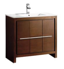 """FCB8136WG-I Fresca Allier 36"""" Wenge Brown Modern Bathroom Cabinet w/ Sink"""