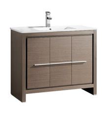 """FCB8140GO-I Fresca Allier 40"""" Gray Oak Modern Bathroom Cabinet w/ Sink"""