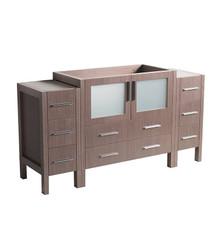 "FCB62-123612GO Fresca Torino 60"" Gray Oak Modern Bathroom Cabinets"