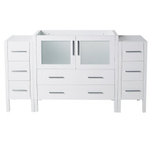 "Fresca  FCB62-123612WH Fresca Torino 60"" White Modern Bathroom Cabinets"
