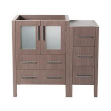 "Fresca  FCB62-2412GO Fresca Torino 36"" Gray Oak Modern Bathroom Cabinets"