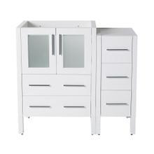 "Fresca  FCB62-2412WH Fresca Torino 36"" White Modern Bathroom Cabinets"
