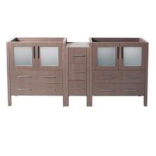 "Fresca  FCB62-301230GO Fresca Torino 72"" Gray Oak Modern Bathroom Cabinets"