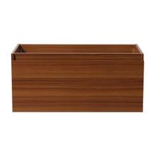 "Fresca  FCB8010TK Fresca Mezzo Teak 39"" Wall Hung Modern Bathroom Cabinet"