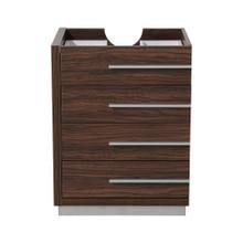 """Fresca  FCB8024GW Fresca Livello 24"""" Walnut Modern Bathroom Cabinet"""