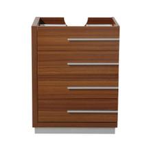 """Fresca  FCB8024TK Fresca Livello 24"""" Teak Modern Bathroom Cabinet"""