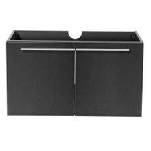 """Fresca  FCB8090BW Fresca Vista Black 36"""" Wall Mount Modern Bathroom Cabinet"""